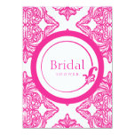 Ornate Damask Pink and White Invite
