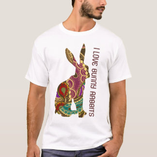 Ornate Design - I Love Bunny Rabbits T-Shirt
