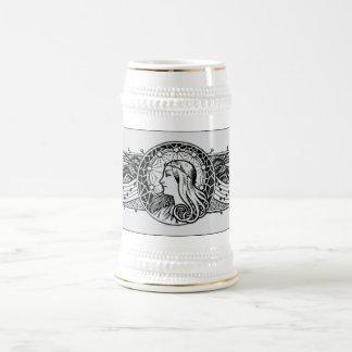 Ornate Engraved Beer Stein