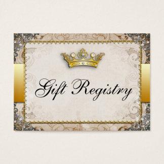 Ornate Fairytale Storybook Wedding  Gift Registry Business Card