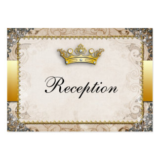 Ornate Fairytale Storybook Wedding Reception Large Business Cards (Pack Of 100)