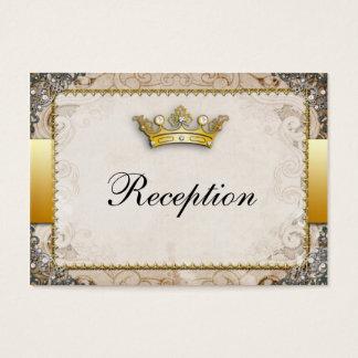 Ornate Fairytale Storybook Wedding Reception Business Card