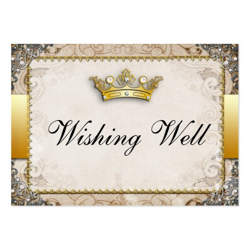 Ornate Fairytale Storybook Wishing Well Cards Business Card Templates