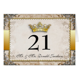 Ornate Fairytale Wedding Table Number Card