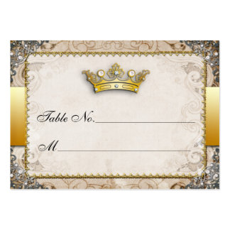 Ornate Fairytale Wedding Table Number Cards Large Business Cards (Pack Of 100)