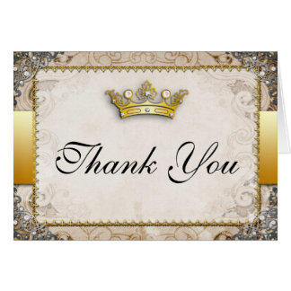 Ornate Fairytale Wedding Thank You Card
