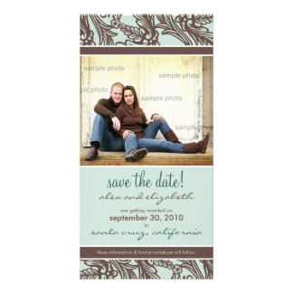 Ornate Floral Save the Date Announcement Custom Photo Card