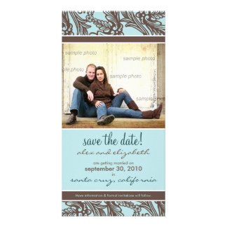 Ornate Floral Save the Date Announcement Customized Photo Card