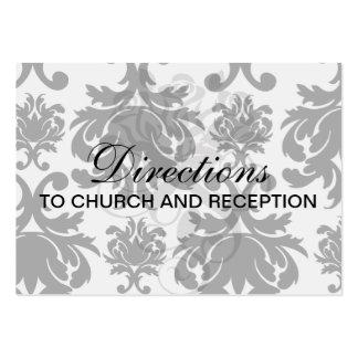 ornate formal black white damask business card templates