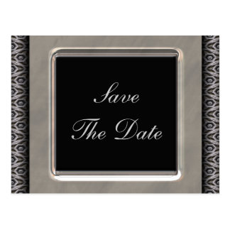 Ornate Frame 25th Wedding Anniversary Postcard