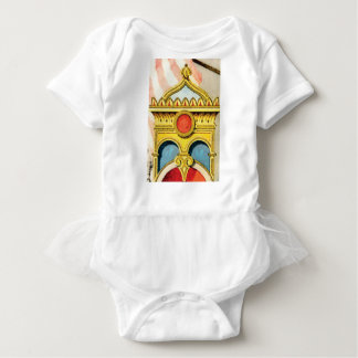 ornate frame baby bodysuit