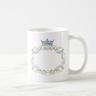 Ornate  Frame Medallion with Crown Coffee Mug