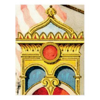 ornate frame postcard