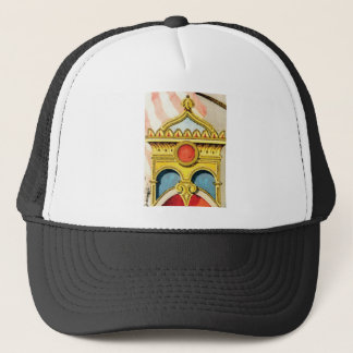ornate frame trucker hat