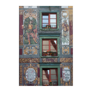Ornate Fresco Detail, Germany Acrylic Print