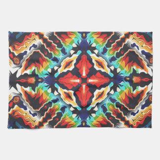 Ornate Geometric Colors Kitchen Towel