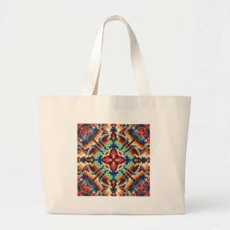 Ornate Geometric Colors Large Tote Bag