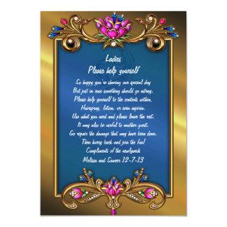 Ornate Gold Tone Floral Frame Wedding Basket Sign Card