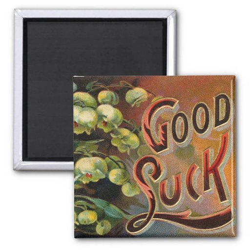 Ornate Good Luck Refrigerator Magnets