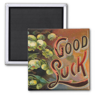 Ornate Good Luck Square Magnet