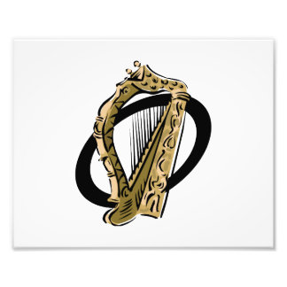 Ornate harp graphic black ring.png photo art