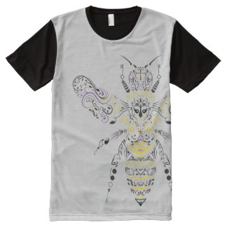 ornate honey bee All-Over print T-Shirt