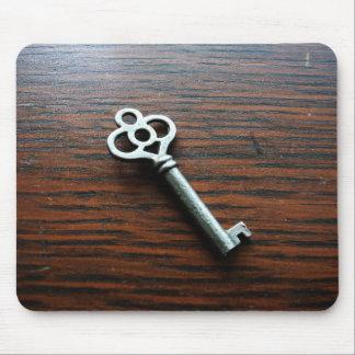 Ornate Key on Wooden Box Mousepad