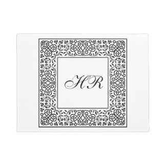 Ornate Knotwork Monogram Doormat