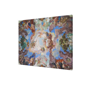 Ornate Library Ceiling Detail Canvas Print
