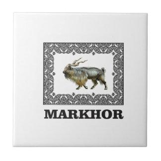 Ornate Markhor frame Ceramic Tile