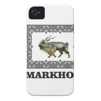 Ornate Markhor frame iPhone 4 Cover