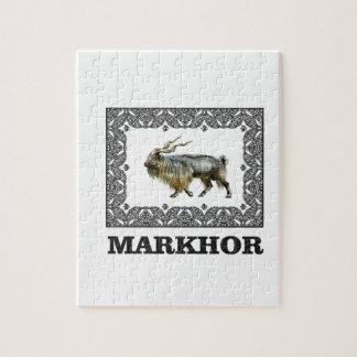 Ornate Markhor frame Jigsaw Puzzle