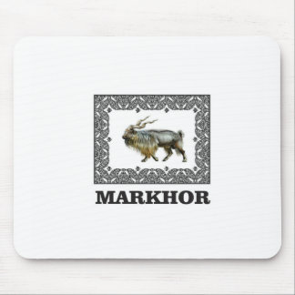 Ornate Markhor frame Mouse Pad