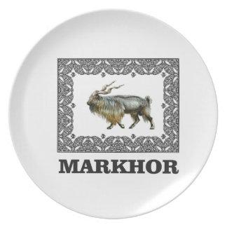 Ornate Markhor frame Plate