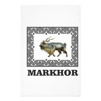 Ornate Markhor frame Stationery
