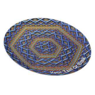 Ornate Metallic Magen David Plate