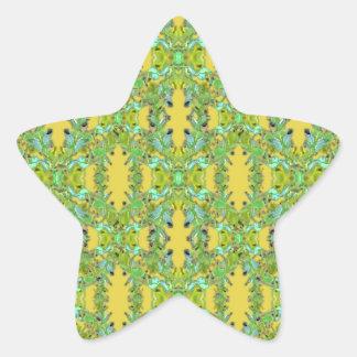 Ornate Modern Noveau Star Sticker