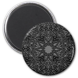 Ornate monochrome decoration magnet