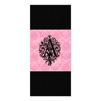 Ornate Monogram A Rack Card Template