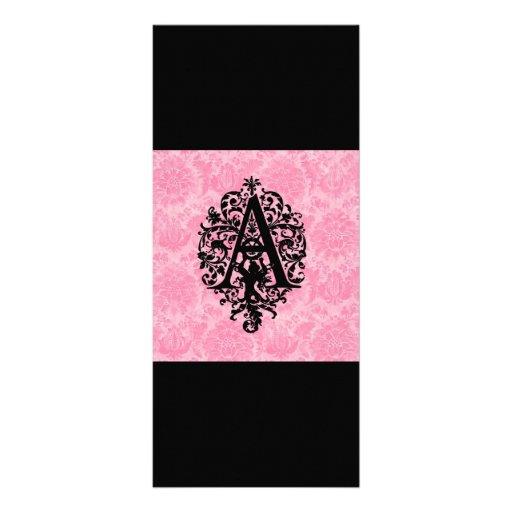Ornate Monogram A Rack Card Design