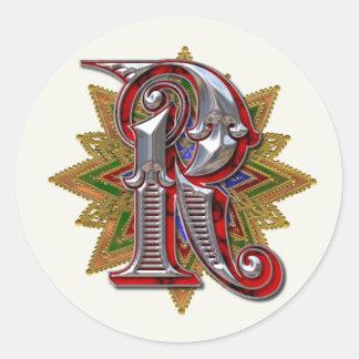Ornate Monogram R Sticker