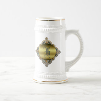 Ornate Monogram Stein Beer Steins