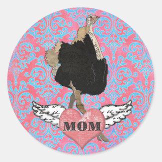 Ornate Ostrich Mom Sticker