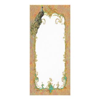 Ornate Peacock n Paisley Art Design Custom Rack Card