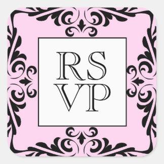 Ornate Pink  RSVP Sticker