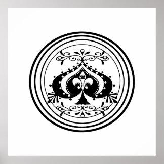 Ornate Poker Art Design Poster
