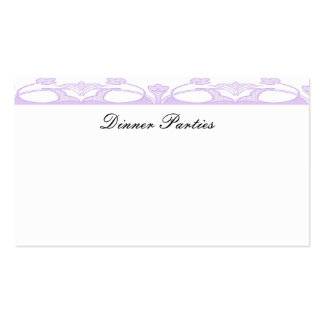 Ornate Purple Business Card