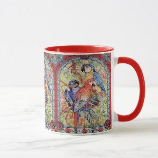 Ornate Red Scarlet Hyacinth Blue Macaw Parrot Mug