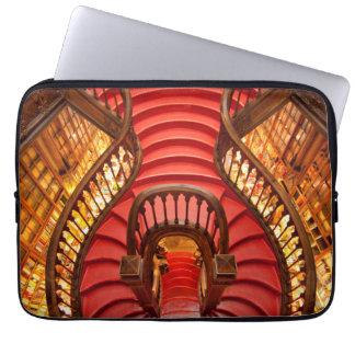 Ornate red stairway, Portugal Laptop Sleeve