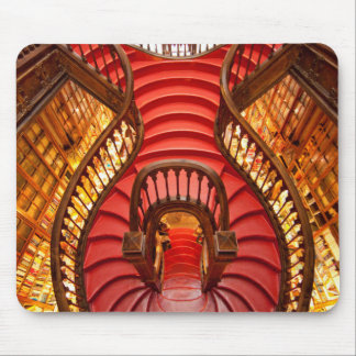 Ornate red stairway, Portugal Mouse Pad